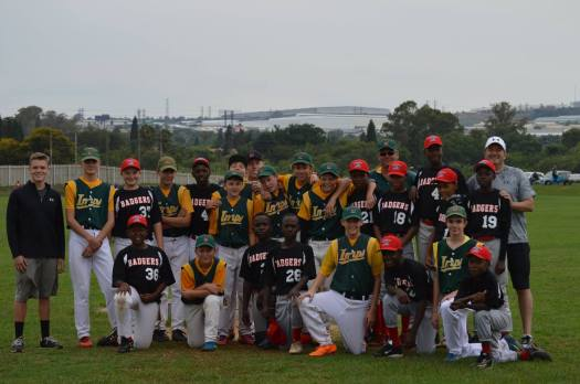 Group photo of Alexandra Baseball Club, South Africa