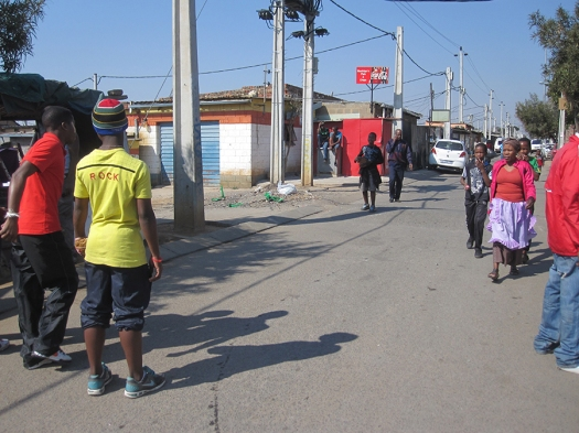 Street scene in Alexandra, South Africa