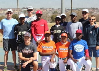 Rich Campbell of Africa On Deck in Alexandra, South Africa, in 2015 delivering baseball equipment